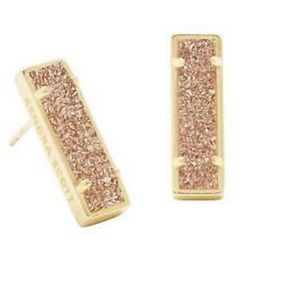 Lady Rose Gold Stud Earrings in Rose Gold Drusy